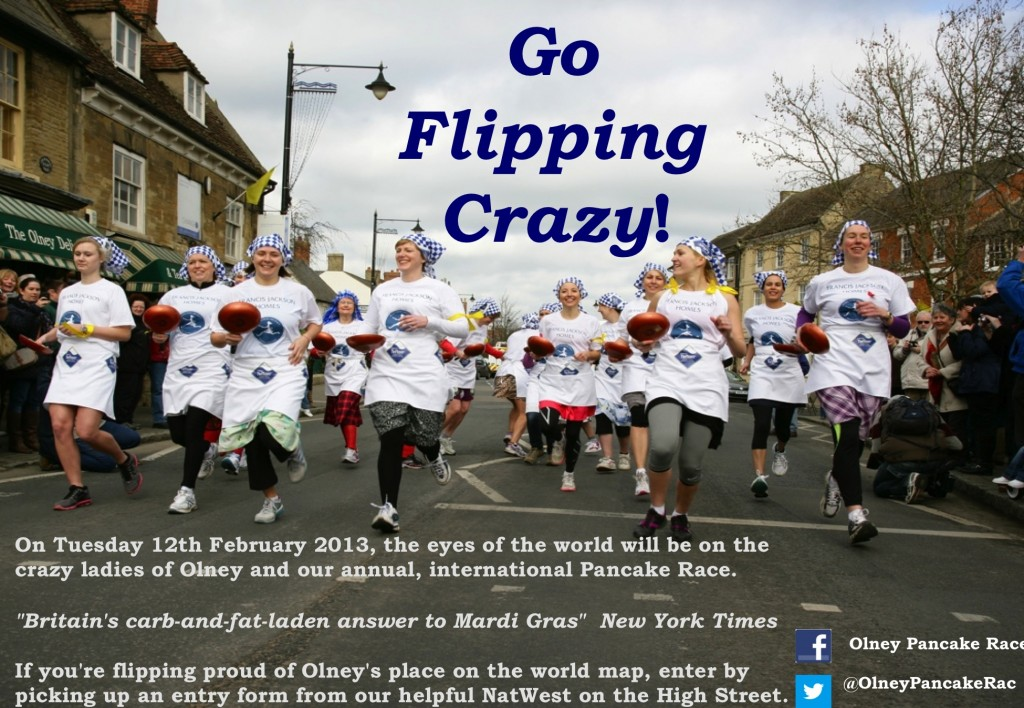 Olney Pancake Race 2013 Runner's Poster