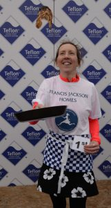 Katy Godof winner 2020 Pancake Race Olney
